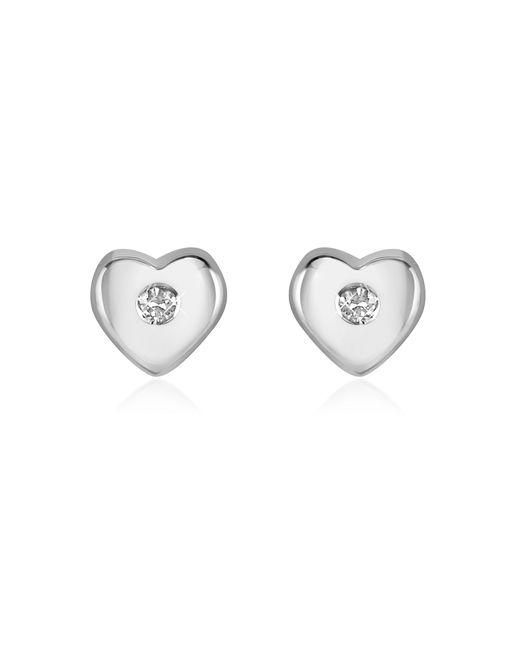 Forzieri - Metallic 0.055 Ct Diamond Heart 18k Gold Earrings - Lyst