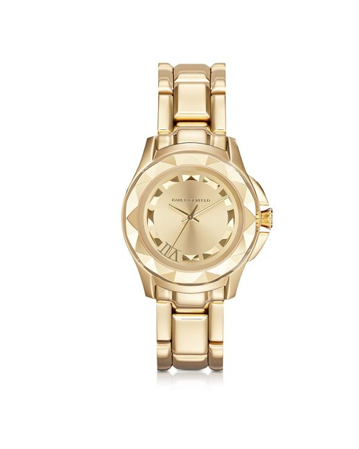 Karl Lagerfeld - Metallic Karl 7 36 Mm Gold Ip Stainless Steel Unisex Watch - Lyst
