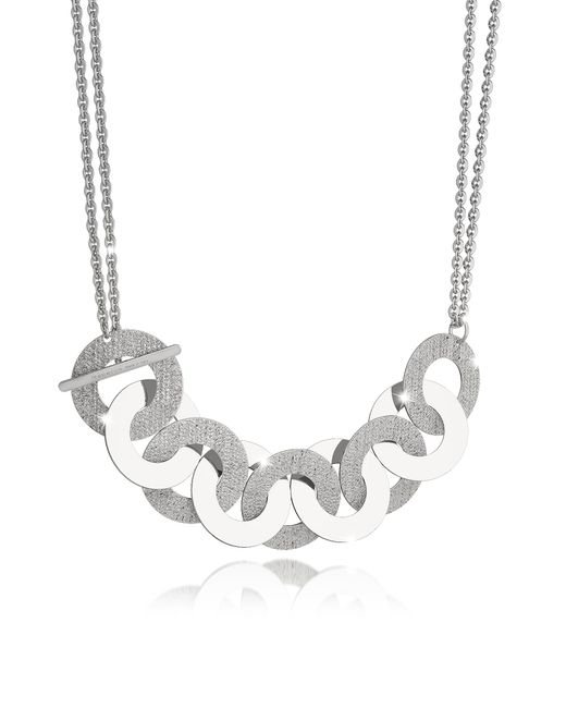 Rebecca - Metallic R-zero Rhodium Over Bronze And Steel Maxi Chain Necklace - Lyst