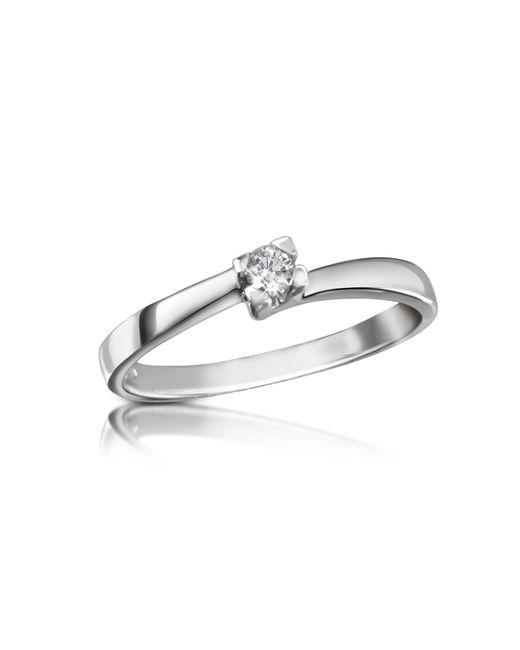 Forzieri | Metallic 0.08 Ctw Diamond Solitaire Ring | Lyst