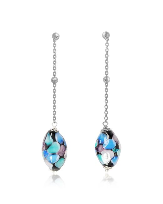 Antica Murrina - Blue Smeralda Glass Beads Sterling Silver Earrings - Lyst