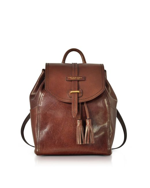 The Bridge - Florentin Brown Medium Backpack w/Tassels - Lyst