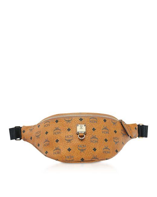 27a4aec35ef Lyst - MCM Medium Cognac Visetos Fursten Belt Bag in Brown for Men
