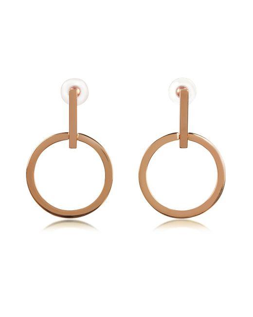 Vita Fede - Metallic Antonia Rose Gold Tone Hoop Earrings - Lyst