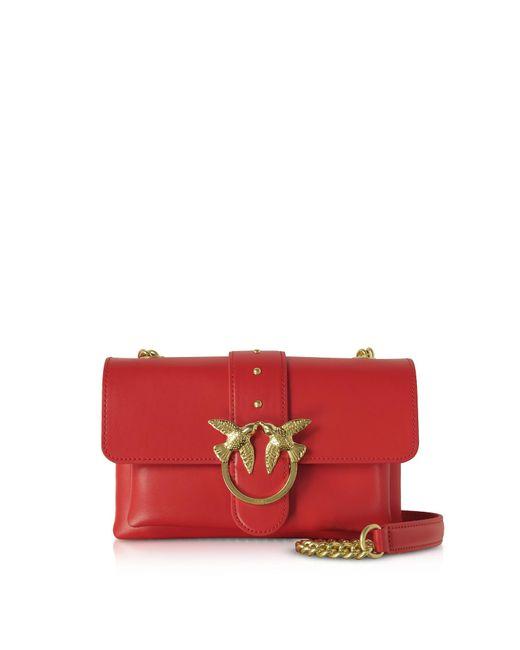 Pinko Mini Love Soft Shoulder Bag in Red - Lyst 8349325b4e8