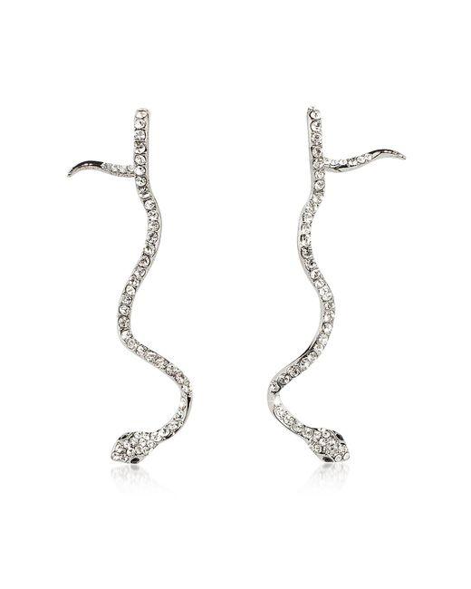 FEDERICA TOSI - Metallic Long Snake Earrings - Lyst