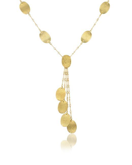 Torrini | Metallic Lenticchie Moving - 18k Yellow Gold Drop Necklace | Lyst