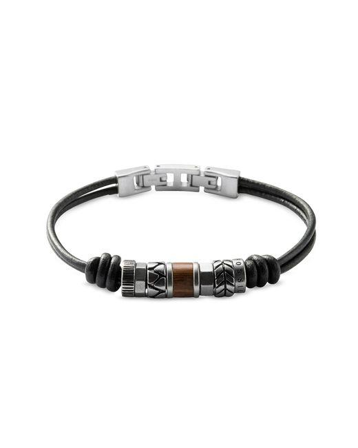 Fossil - Black Vintage Casual Men's Bracelet for Men - Lyst