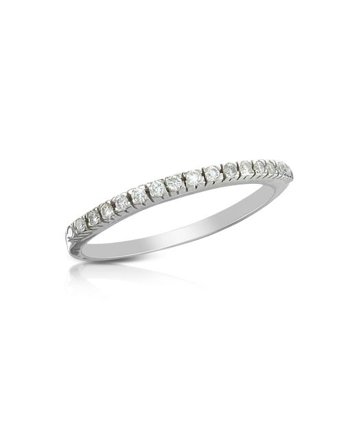 Forzieri - White 0.115 Ct Diamond Band Ring - Lyst