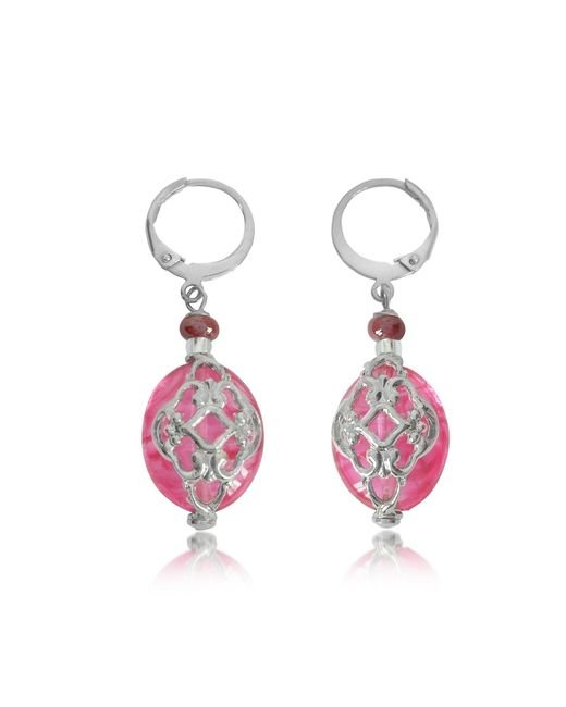 Antica Murrina | Red Florinda Ruby Murano Glass Earrings | Lyst