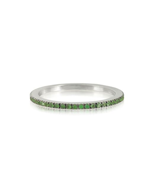 Forzieri - Green Natural Tsavorites Eternity Band Ring - Lyst