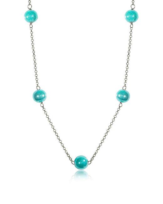 Antica Murrina - Blue Perleadi Turquoise Murano Glass Beads Necklace - Lyst