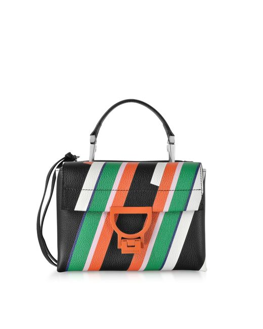 Coccinelle Arlettis Stripes Mini Bag W shoulder Strap in Black - Lyst edcf4404fa93c