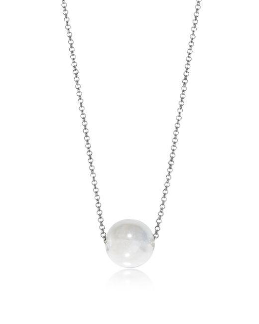 Antica Murrina - Perleadi White Murano Glass Bead Chain Necklace - Lyst