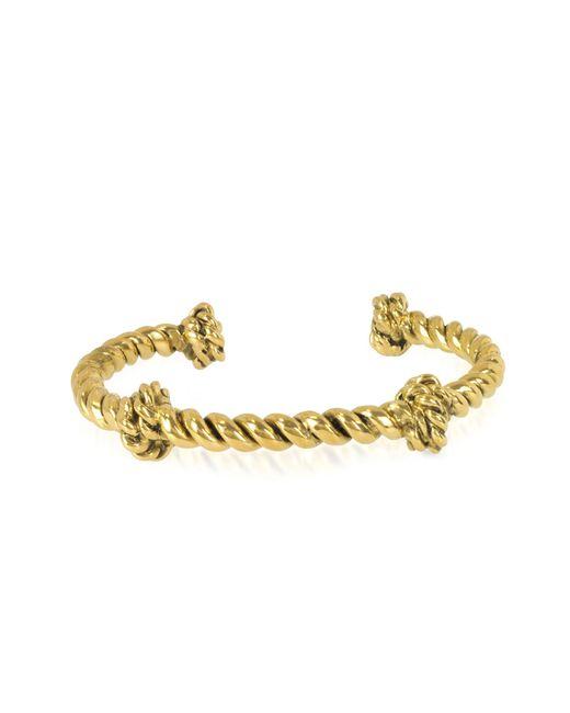 Aurelie Bidermann - Metallic Palazzo Gold Plated Rope Bracelet - Lyst