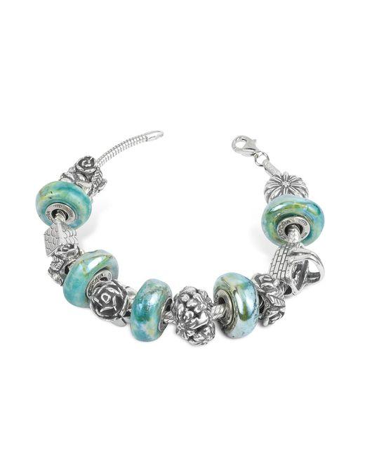 Tedora - Metallic Sterling Silver Garden Bracelet - Lyst