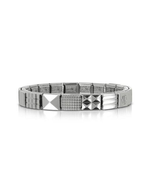 Nomination - Metallic Steel Ikons Geometric Studs Polished Stainless Steel Bracelet for Men - Lyst