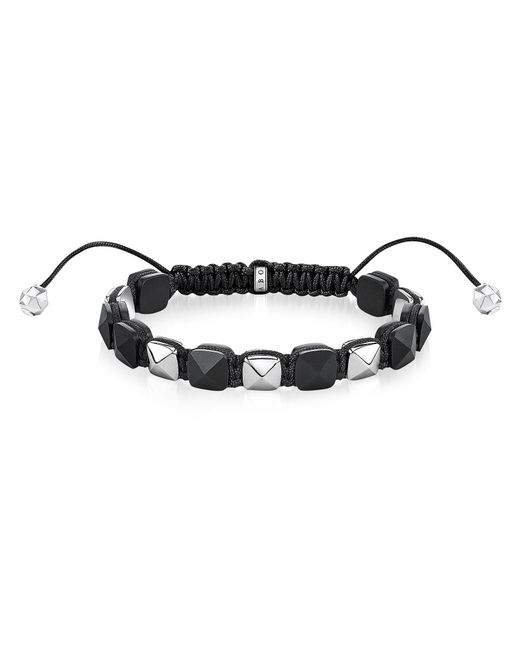 Thomas Sabo - Metallic Blackened Sterling Silver Studded Bracelet for Men - Lyst