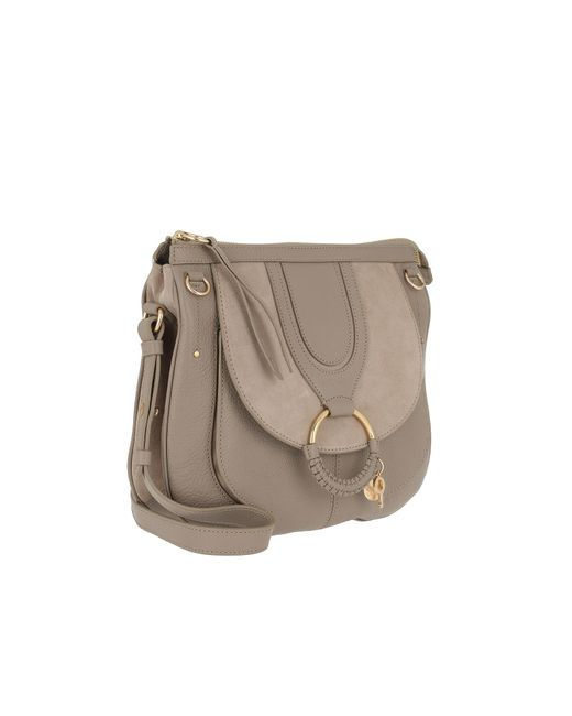 c498d9e1f8 ... See By Chloé - Gray Hana Tote Bag Small Motty Grey - Lyst ...