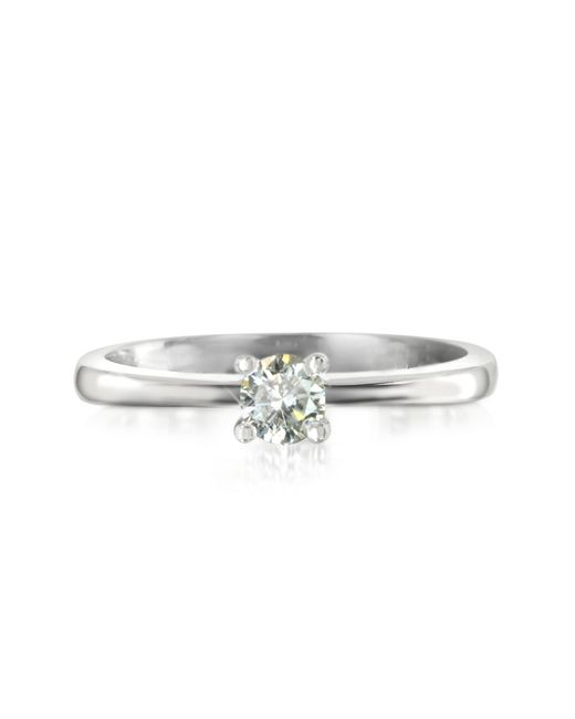 Forzieri | 0.23 Ctw Diamond 18k White Gold Solitaire Vanity Ring | Lyst