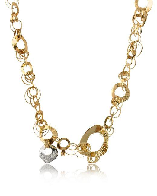 Orlando Orlandini - Metallic Fashion - Diamond 18k Rose Gold Chain Necklace - Lyst