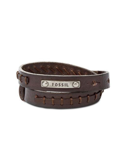 Fossil - Brown Jf87354040 Vintage Casual Men's Bracelet for Men - Lyst