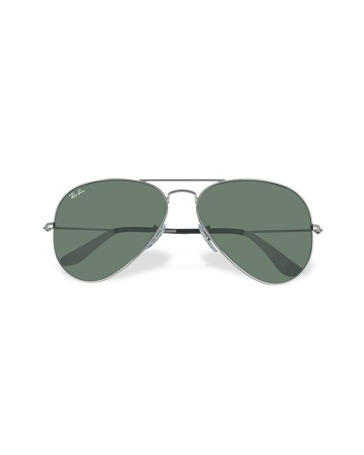Ray-Ban - Green Aviator - Large Metal Sunglasses - Lyst