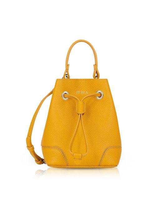 Furla - Yellow Mini Stacy Bag - Lyst