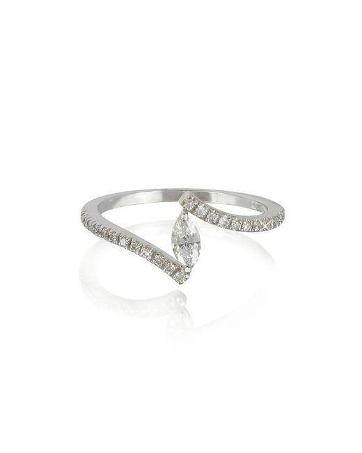 Forzieri - White Gold Eye Shaped Diamond Ring - Lyst