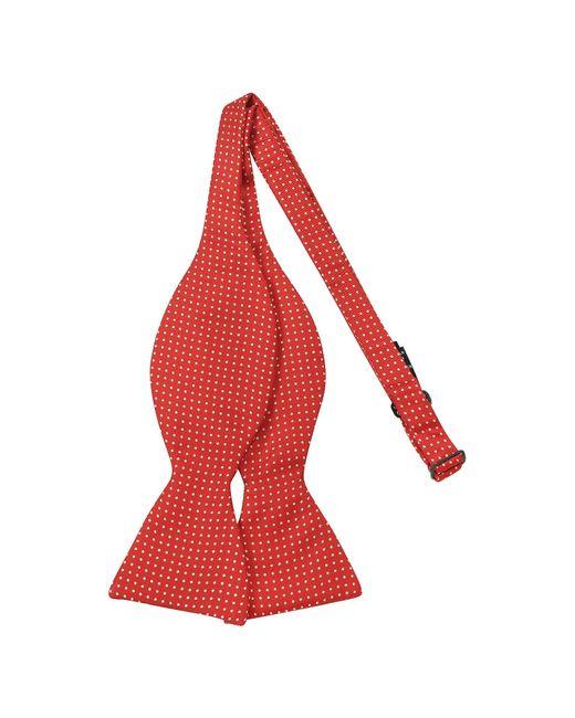 Forzieri - Red Small Polkadot Self-tie Silk Bowtie for Men - Lyst