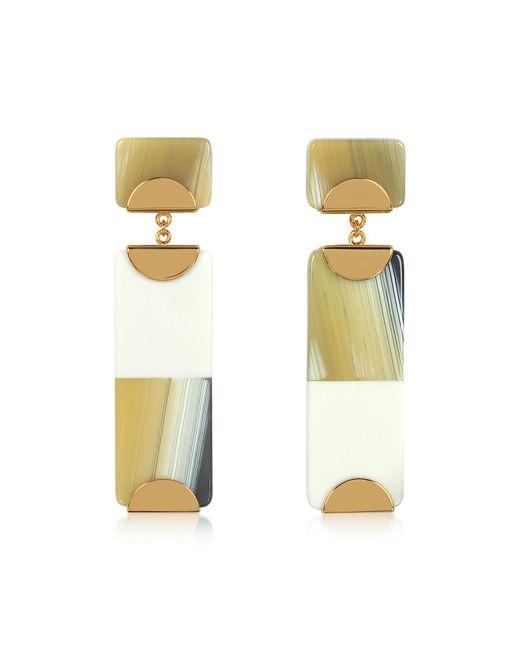 Tory Burch - Metallic Resin Color-block Drop Earrings - Lyst