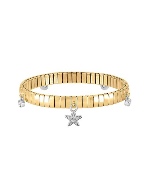 Nomination - Metallic Stainless Steel Women's Bracelet W/stearling Silver Star And Cubic Zirconia - Lyst