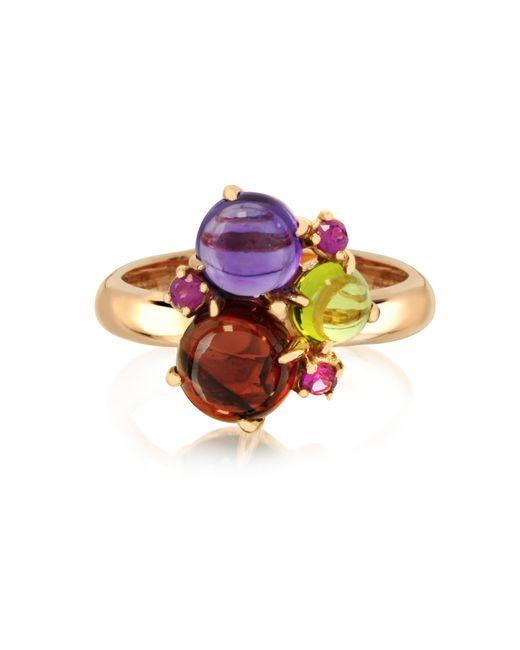 Mia & Beverly - Purple Gemstones 18k Rose Gold Ring - Lyst