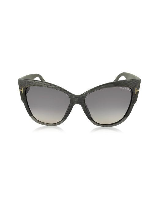 1a347a3c1b3c Lyst - Tom Ford Anoushka Ft0371 38b Dove Grey Cat Eye Sunglasses in Gray