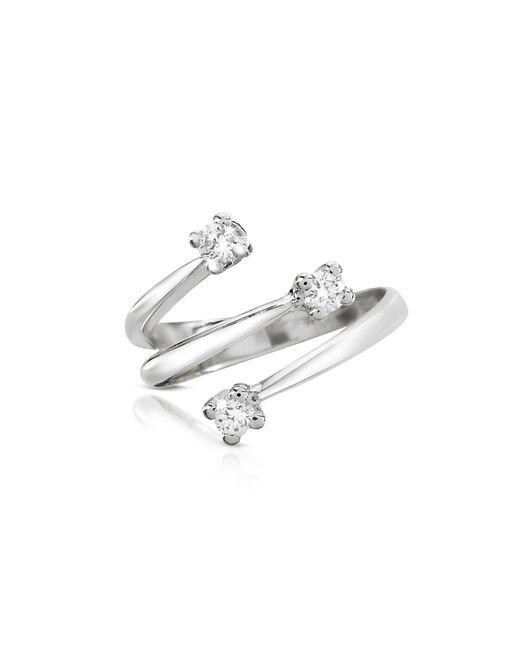 Forzieri - White 0.215 Ct Three-stone Diamond 18k Gold Ring - Lyst