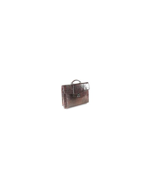 Fontanelli - Brown Croc-embossed Leather Briefcase for Men - Lyst