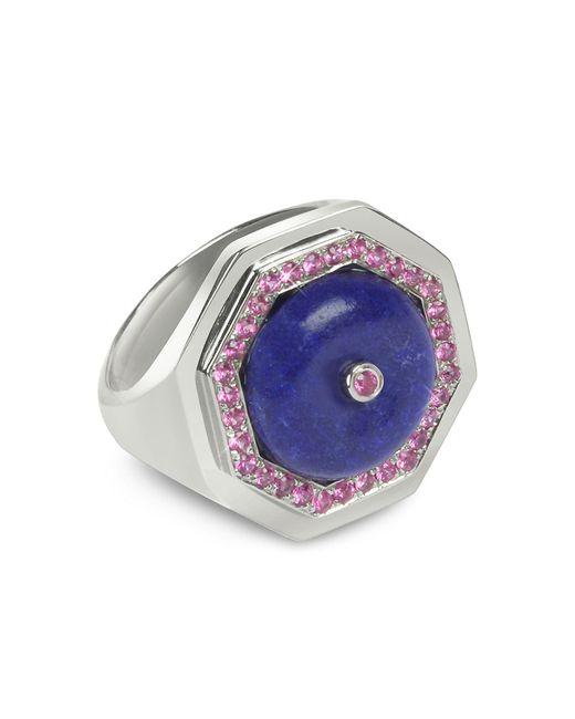 Sho London - Blue Lapis Lazuli Clementina Ring - Lyst