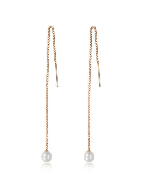 Vita Fede - Metallic Pearl Thread Rose Gold Tone Earrings - Lyst