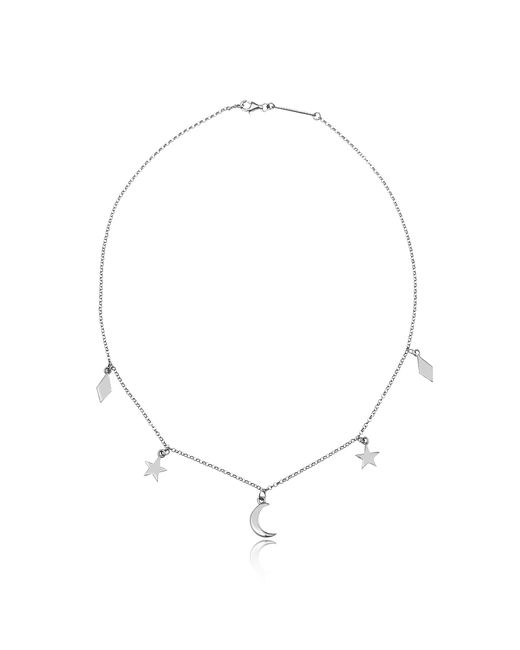 FEDERICA TOSI - Metallic Lace Moon And Stars Necklace - Lyst