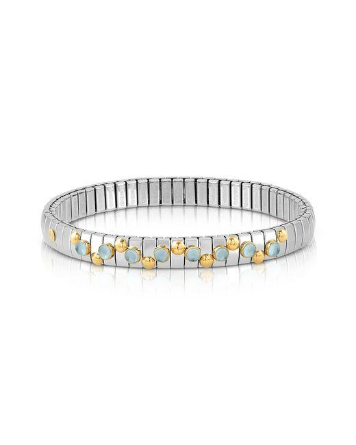 Nomination - Metallic Stainless Steel Women's Bracelet W/light Blue Topaz Beads - Lyst