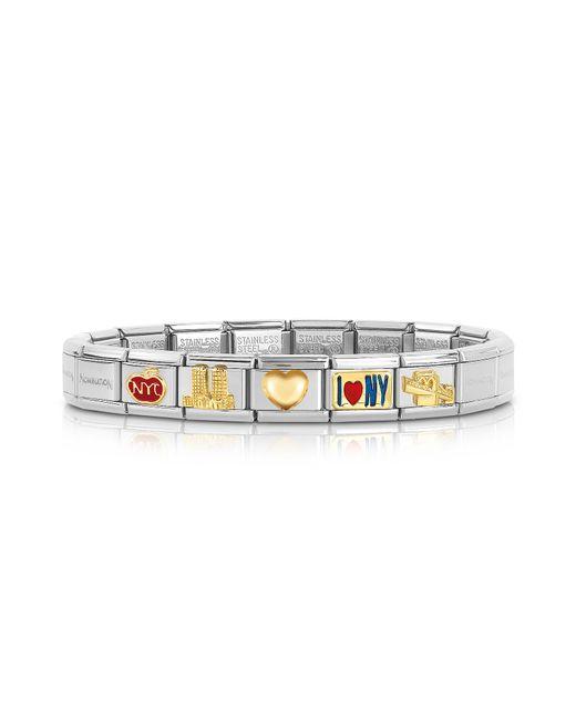 Nomination - Metallic Classic I Love N.y Golden Stainless Steel Bracelet for Men - Lyst