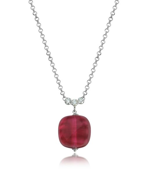 Antica Murrina - Red Florinda Ruby Murano Glass Sterling Silver Necklace - Lyst