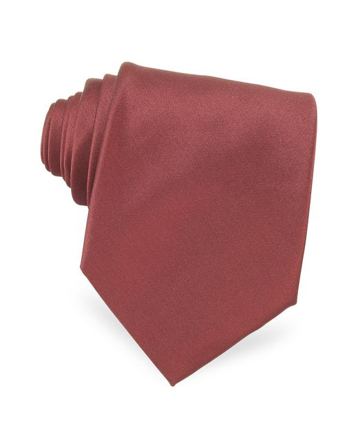 Forzieri - Multicolor Solid Silk Tie for Men - Lyst