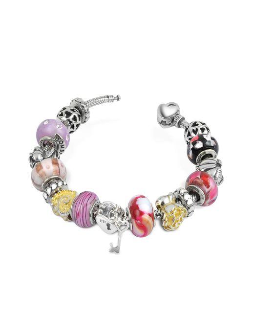 Tedora - Metallic Sterling Silver Romance Bracelet - Lyst