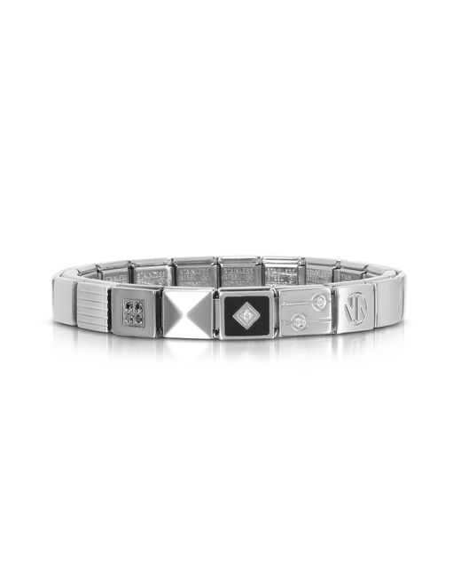 Nomination | Metallic Steel Ikons Black Pyramid Stainless Steel Bracelet W/cubic Zirconia for Men | Lyst