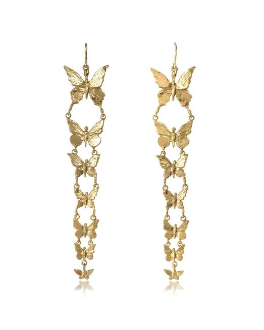 Bernard Delettrez - Metallic Butterflies Bronze Earrings - Lyst