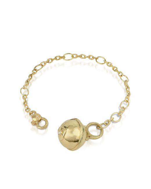 Torrini - Yellow Ball - 18k Gold And Diamond Charm Bracelet - Lyst