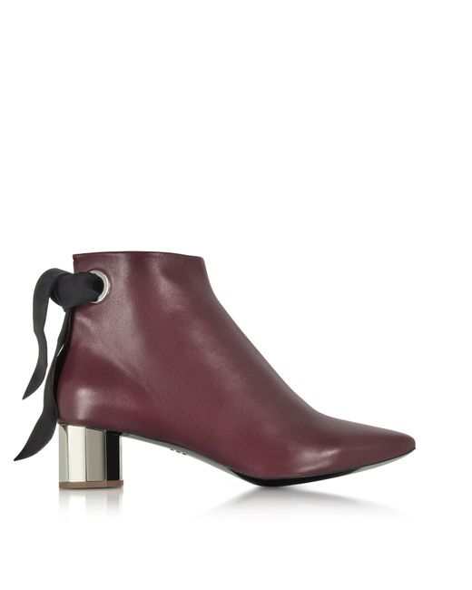 Proenza Schouler | Purple Burgundy Nappa Lather Ankle Boot | Lyst
