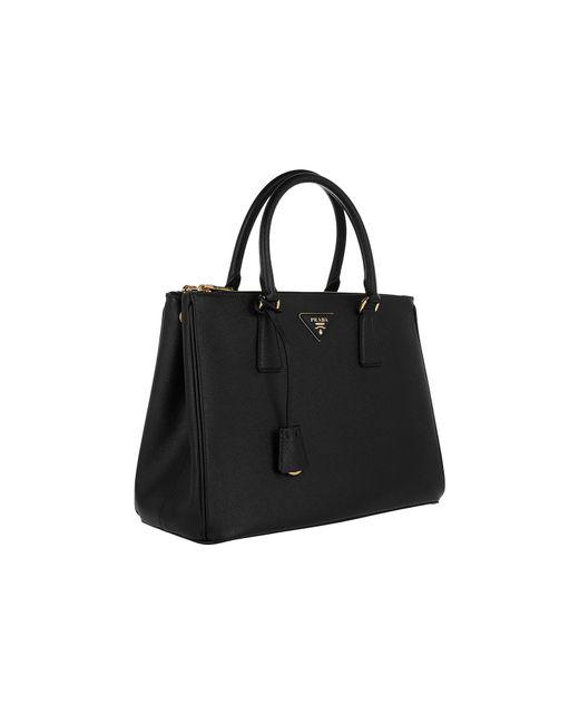 d4a4c0e752b0 ... czech prada black small galleria saffiano leather bag lyst d1644 7b1c9