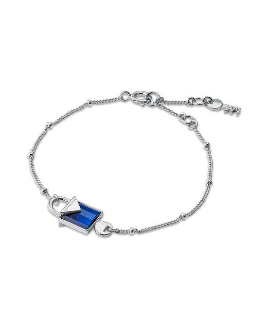 Michael Kors - Metallic Mercer Sterling Silver Lock Bracelet Women's Bracelet - Lyst